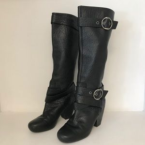 Lucky Brand Soft Leather Black Boots Size 8.5